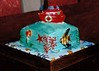 boat cake with fish