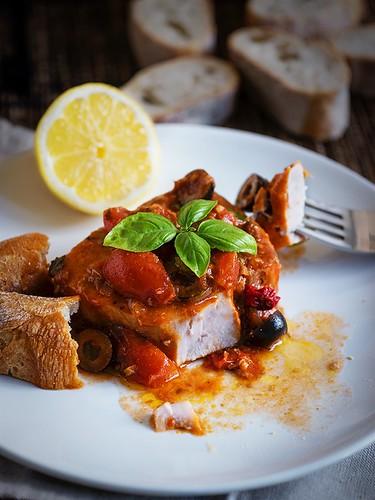 Easy Tune Steak Southern Italian Style