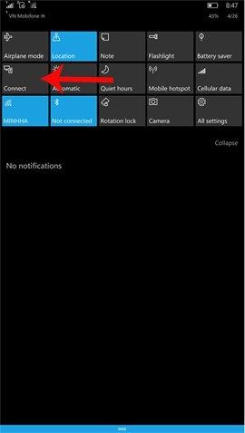 Hướng dẫn chia sẻ màn hình điện thoại Windows 10 Mobile lên PC qua WiFi - Chia sẻ màn hình điện thại