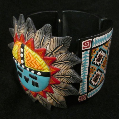 Sunface Kachina Tile Bangle