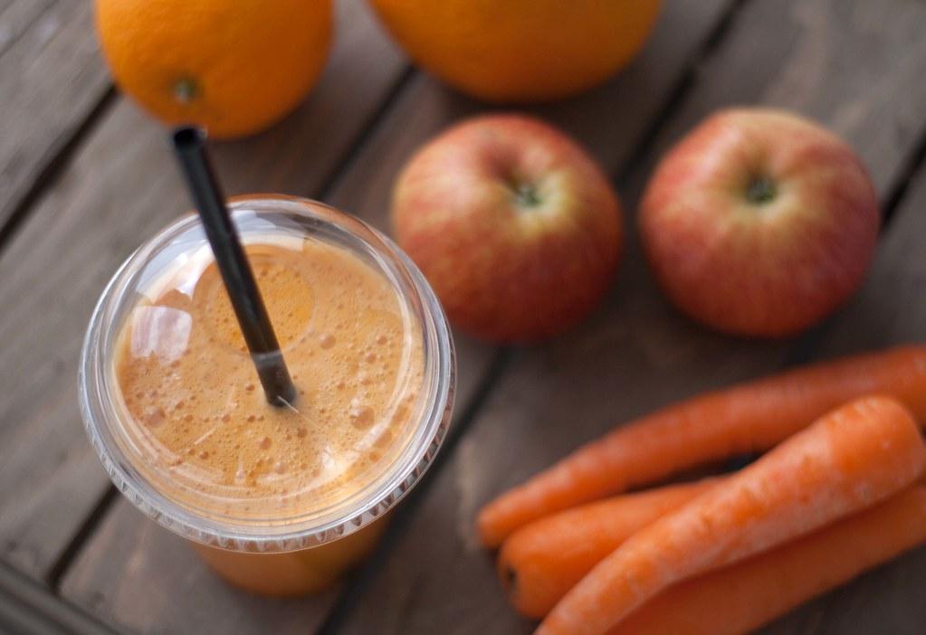 Gulerodsjuice med æble og appelsin (2)