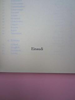 Roland Barthes, Variazioni sulla scrittura. Einaudi 1999. [Responsabilità grafica non indicata]. Frontespizio (part.), 2
