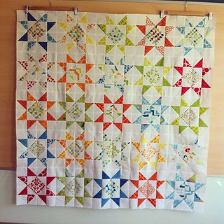 Finished the stars quilt top #mixedbag #studiom