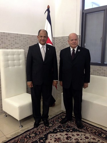 Secretario General de la OEA conversó con el nuevo Presidente de Costa Rica