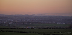 A view over Kilmarnock at Sunset...