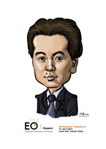 Takeshi Izuka digital caricature for EO Singapore