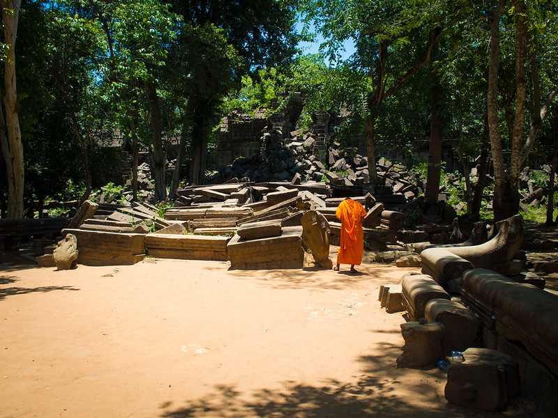 Monk at Beng Mealea