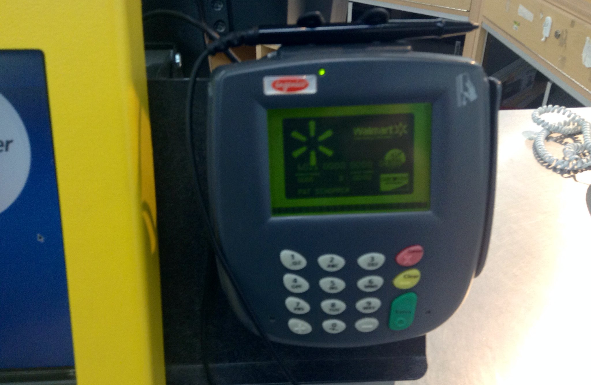 Walmart Store Credit Card Scanner Reader Electronic Device ...