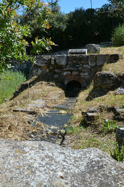 Section of the Hadrianic aqueduct near the Ancient Agora, Athens