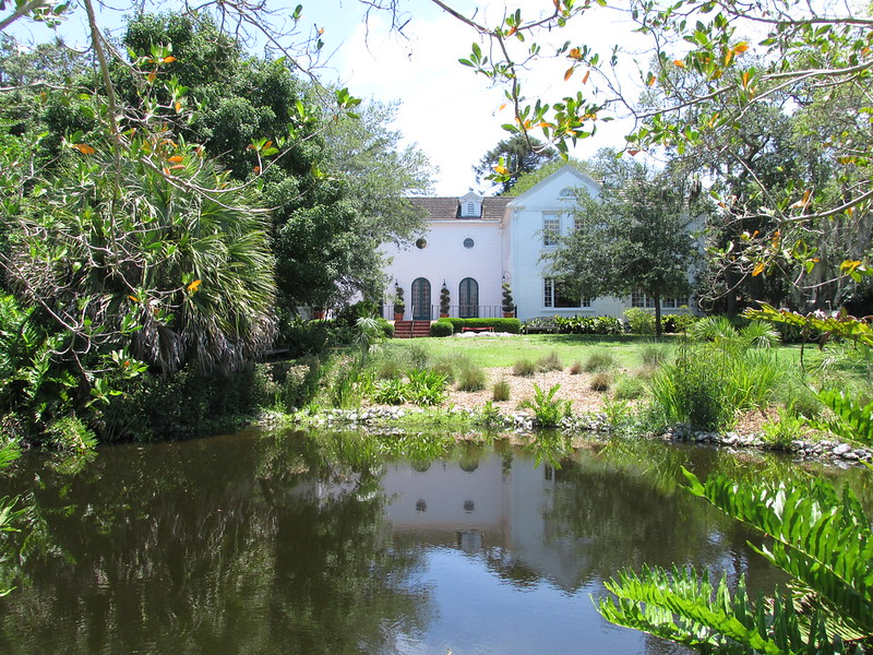 Mansion from the pond