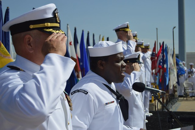 USS Lake Champlain Holds Change Of Command Ceremony, April 23, 2014