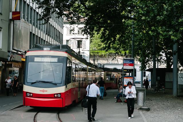 En las calles de Zurich