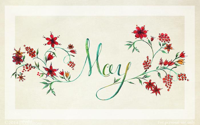 May 2014 Modern Calligraphy Desktop