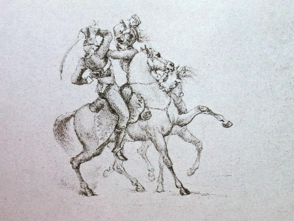 рисунки М.Ю. Лермонтова из альбома Нарышкиных