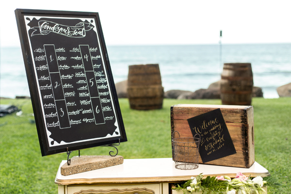 Seating Chart Chalkboard + Welcome Sign Calligraphy by Hello Framboise