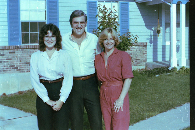 pat sloan with her dad and step mom 1982
