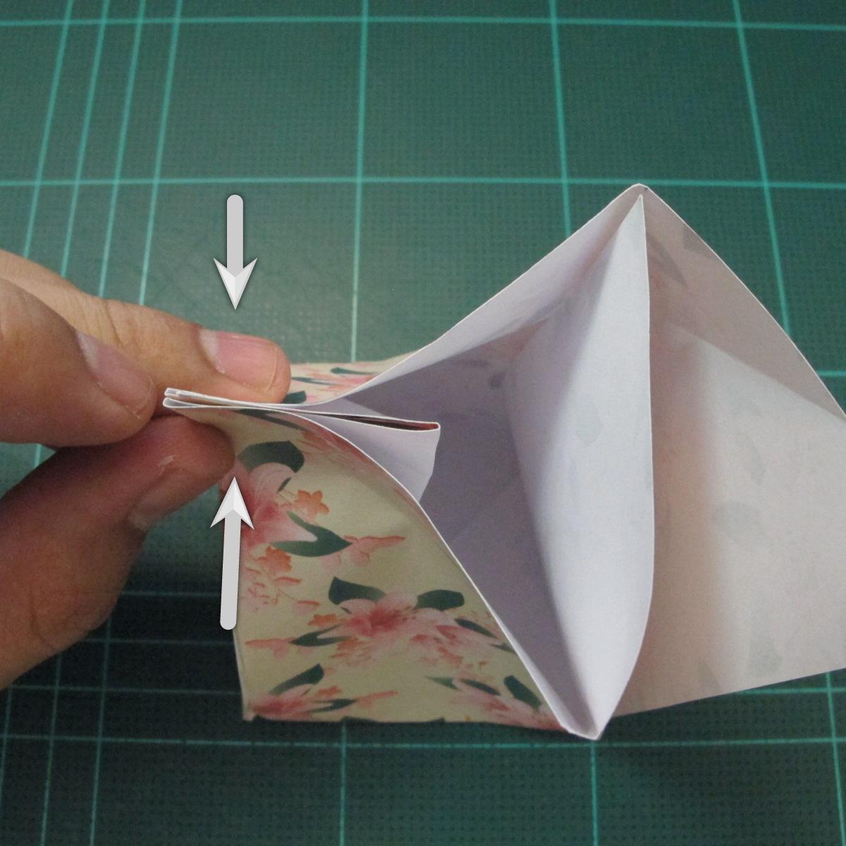 การพับกระดาษเป้นถุงของขวัญแบบไม่ใช้กาว (Origami Gift Bag) 011