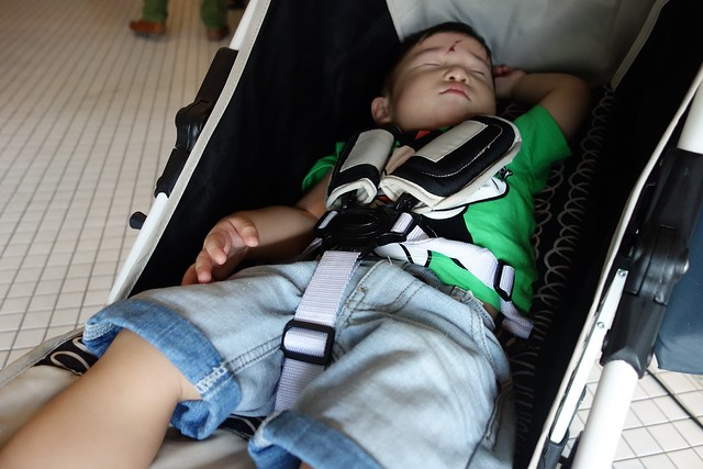 Jerome, who was sleeping away in his Lucky Baby Stroller.