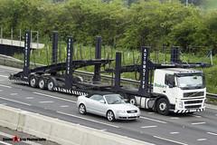 Volvo FM12 380 6x2 Car Transporter - KX55 CSO - Eddie Stobart Automotive - M1 J10 Luton - Steven Gray - IMG_8123