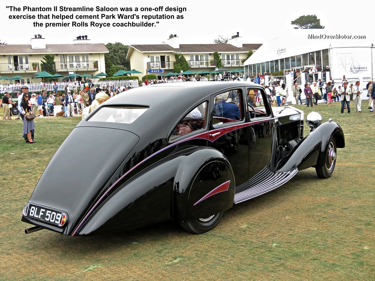 Rolls Royce Phantom II Streamline Saloon by Park Ward at Pebble Beach