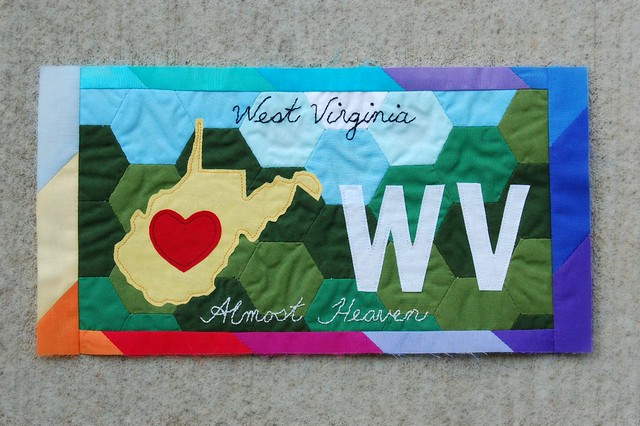 American Made Brand WV License Plate Complete
