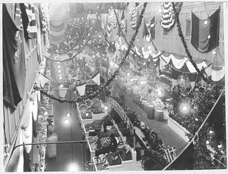 Photograph of a Birds-Eye View of the Fruit and Vegetable Section of Center Market, 02/18/1915