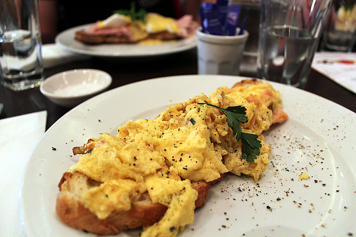 Scrambled eggs Carluccios