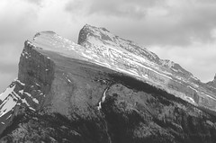 Mount Rundle in B&W