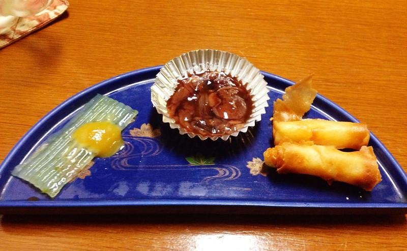美味か宿 藁 お通し日替わり3種