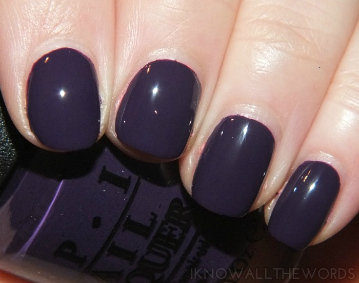 coca-cola by opi swatches- a grape affair