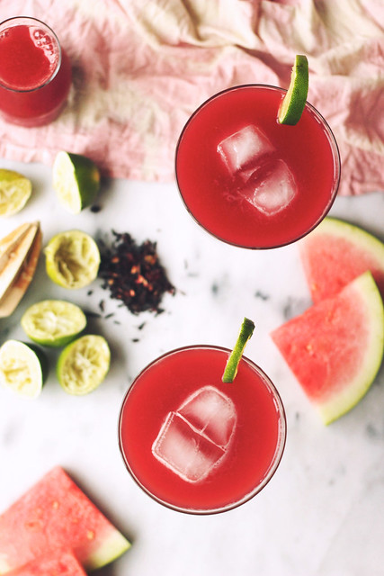 Watermelon Hibiscus Lime Margarita