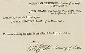 Act Establishing a Mint signatures