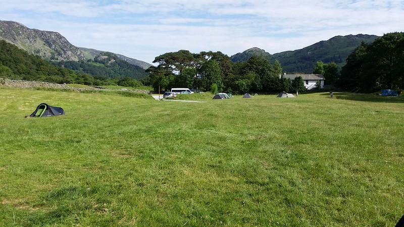 A much emptier campsite