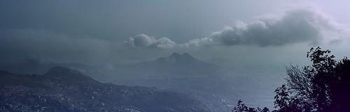 mountain clouds sunrise canon 50mm extended karnataka skandagiri 1000d brenizermethod kalavaradurga