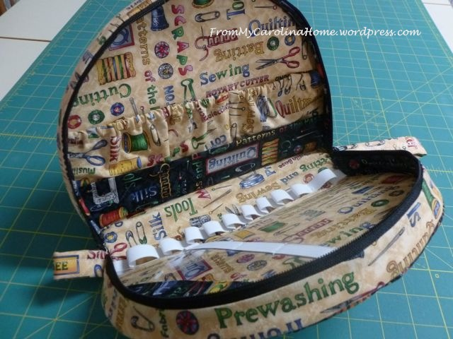 sewing kit inside