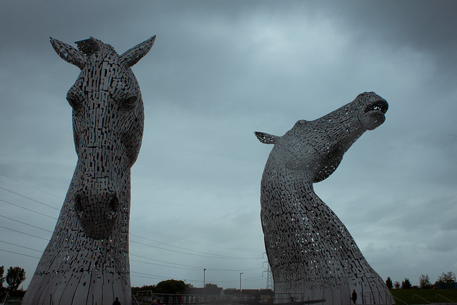 Kelpies in the Rain