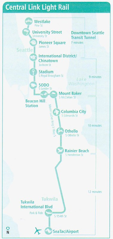 SoundTransit Central Link 2014 Map