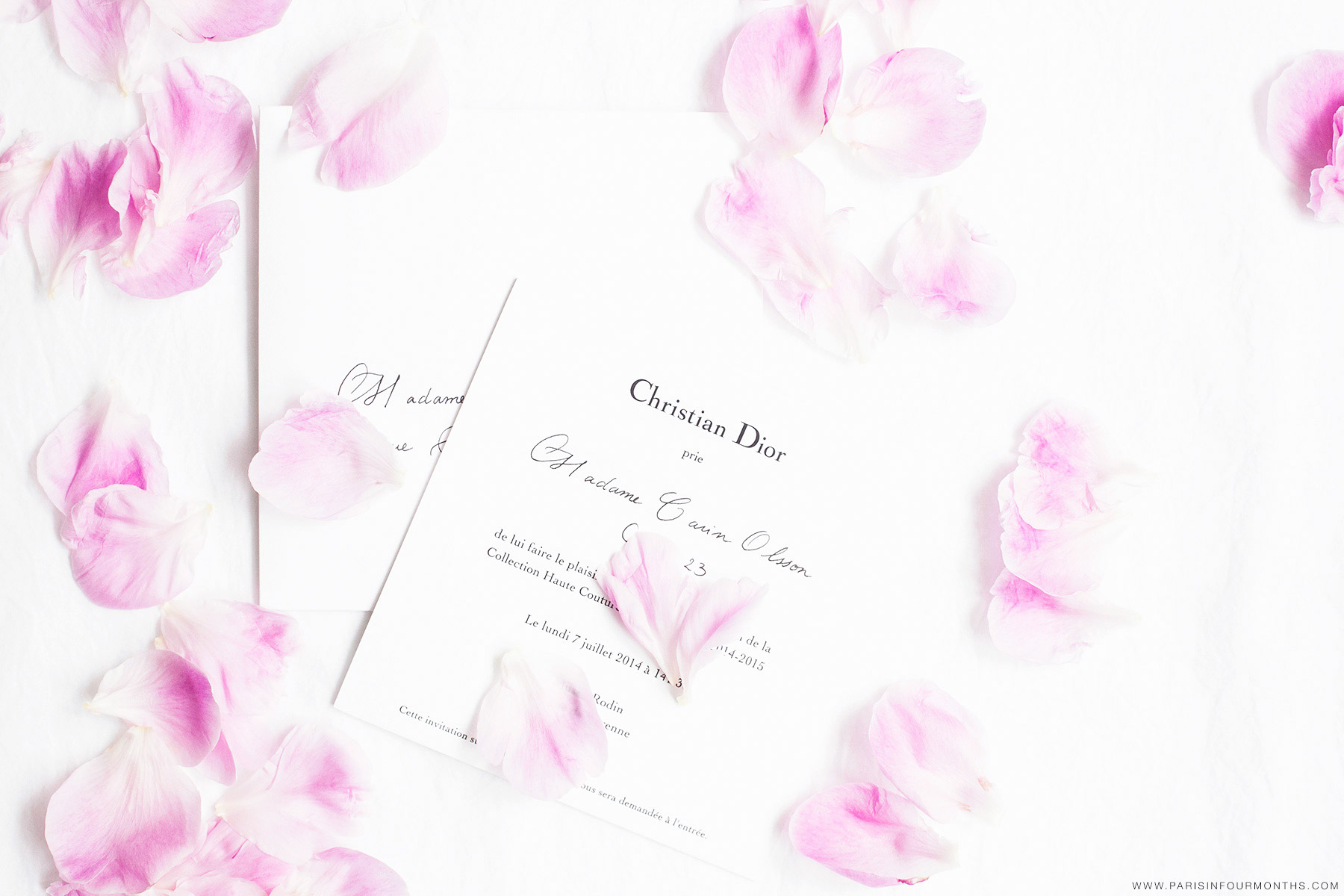 Christian Dior invitation by Carin Olsson (Paris in Four Months)