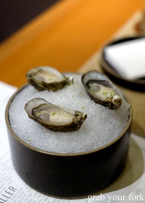 Shigoku oysters at Ronin, Hong Kong