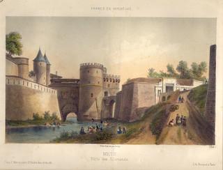 Porte des Allemands - Lithographie d'un dessin d'après nature de Deroy [624]