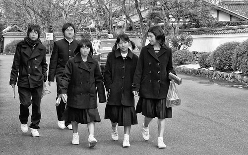 Schoolchildren in Kyōto