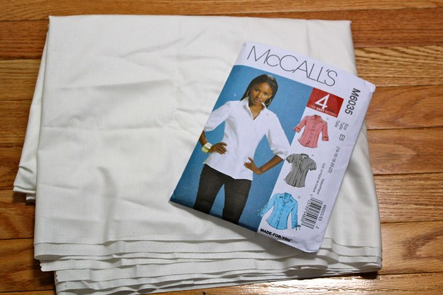 McCalls 6035 and Soft White Cotton Couture Broadcloth