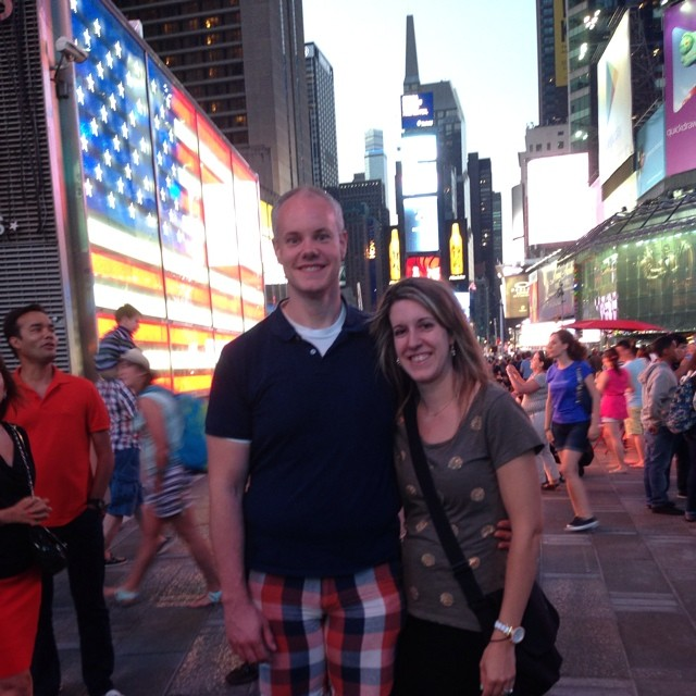Our obligatory Times Square photo without one of the creepy dressed up people.