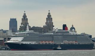 Queen Victoria Berthing At Liverpool
