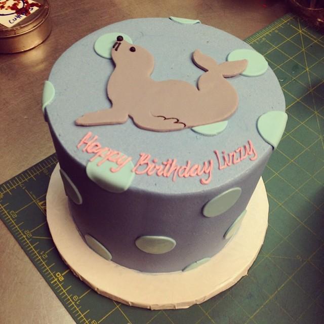 Sea lion birthday cake #polkadotscupcakefactory  Flickr - Photo ...