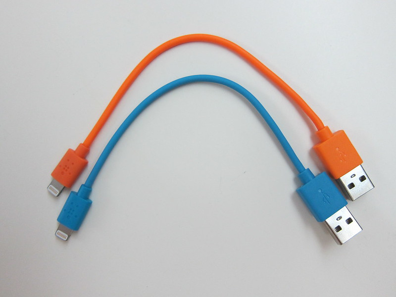 Belkin 6 Inch Lightning to USB ChargeSync Cable - Orange & Blue