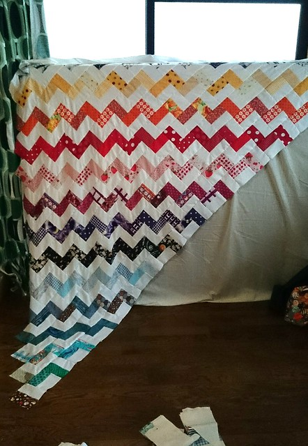 zig zag quilt in progress