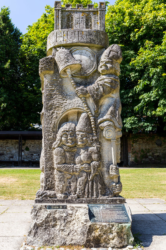 Sculpture by Jonathan Sells to celebrate the 900th Anniversary of the building of Christchurch Priory