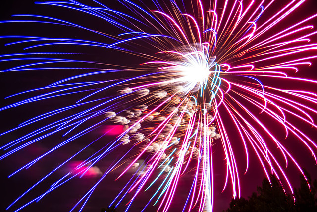 Fireworks July 4th Independence Day 2013 Polo Field Fort Sill Oklahoma (24) from Flickr via Wylio