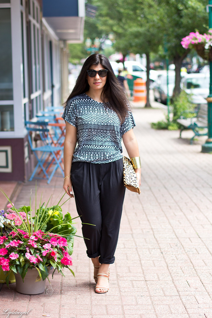 soft black pants, tribal print tee, leopard-2.jpg